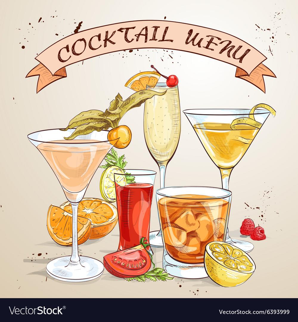 Contemporary Classics Cocktails Menu