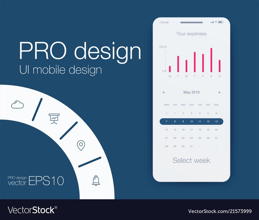 Date application ui design concept stock