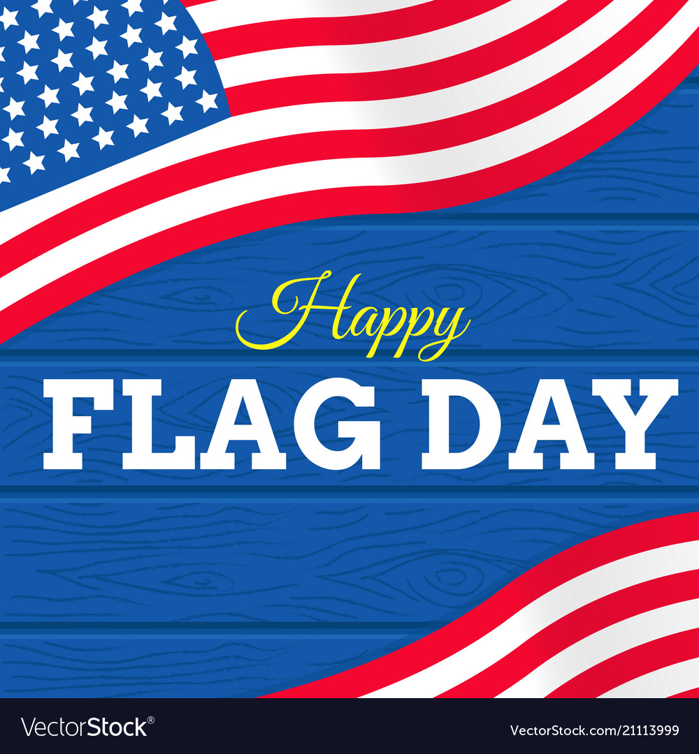 Flag day with usa flag on white background or