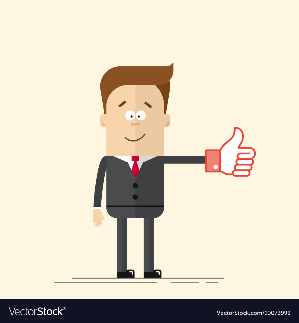 Thumbs up business. Happy businessman or manager
