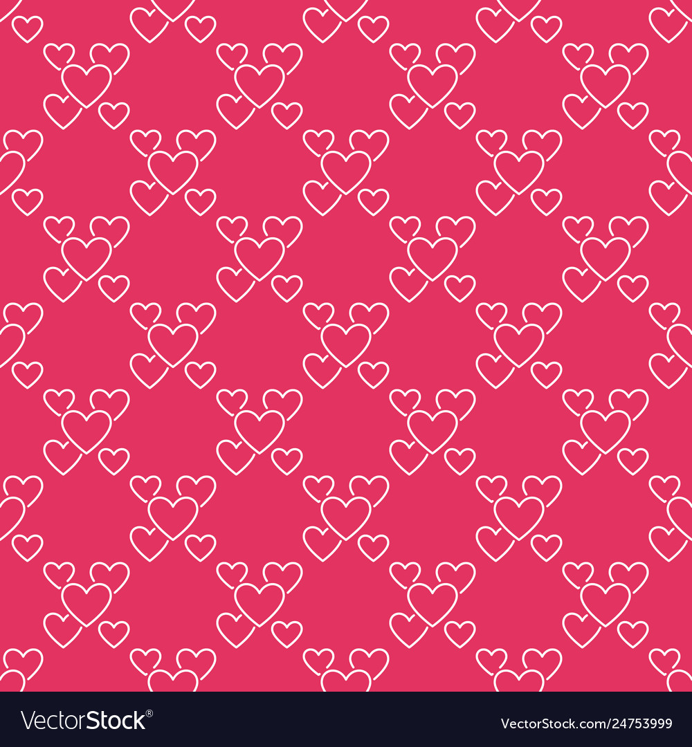 Hearts seamless pattern love red