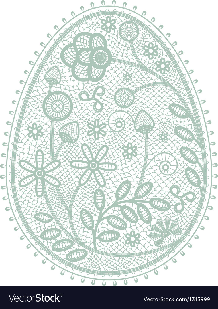 Lace easter egg