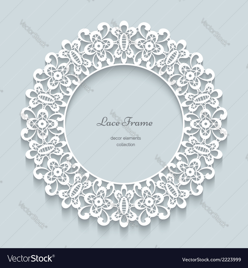 Round paper lace frame