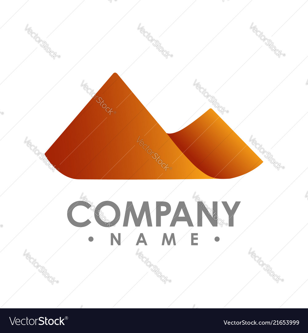 Simple mountain shape color shade design