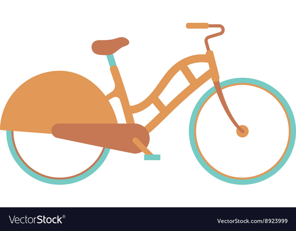 Stylish womens bicycle isolated on white vector image