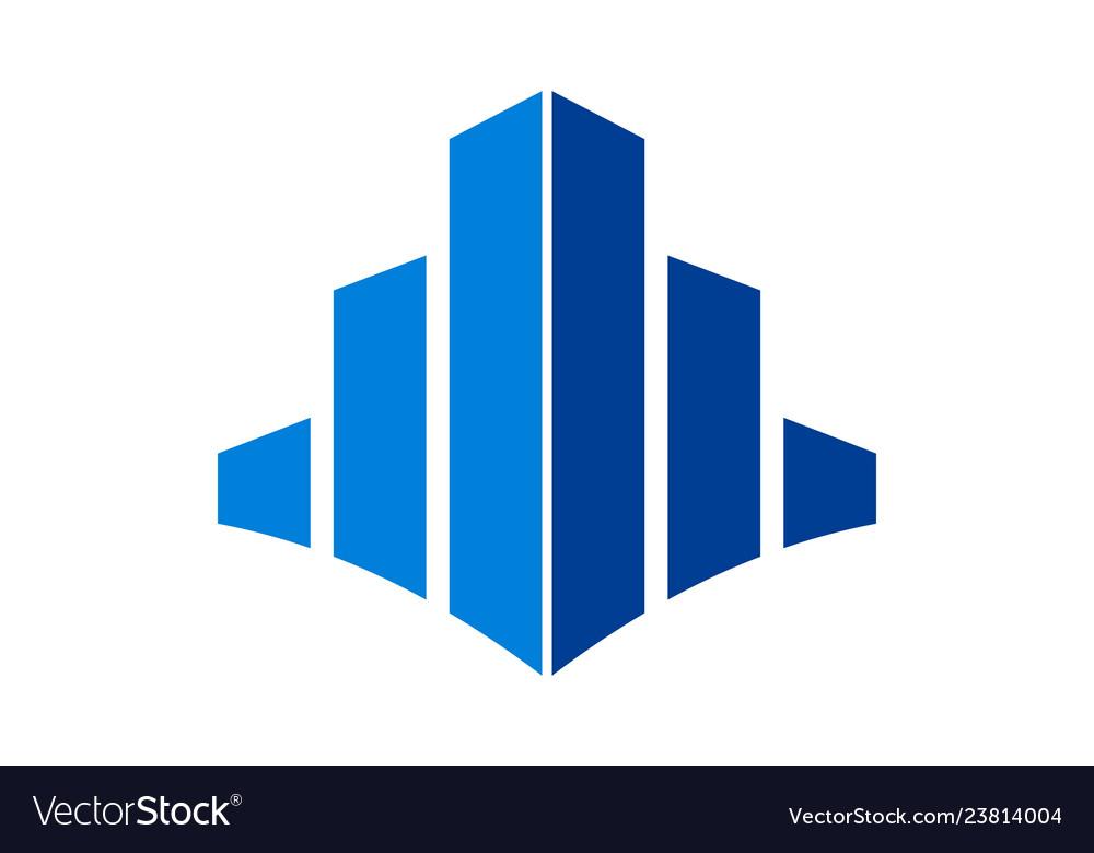 Abstract building logo icon