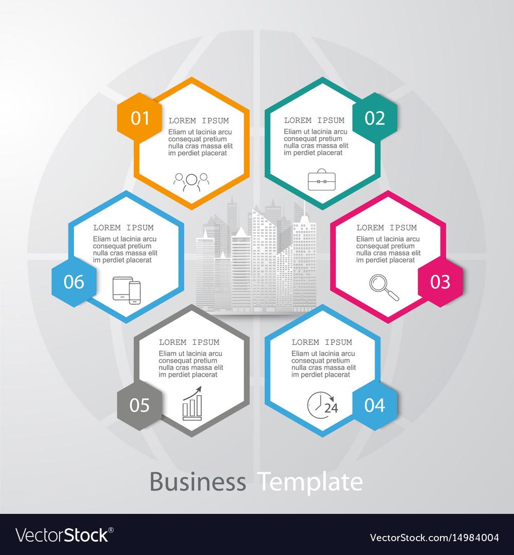 Abstract paper infographic elementshexagon