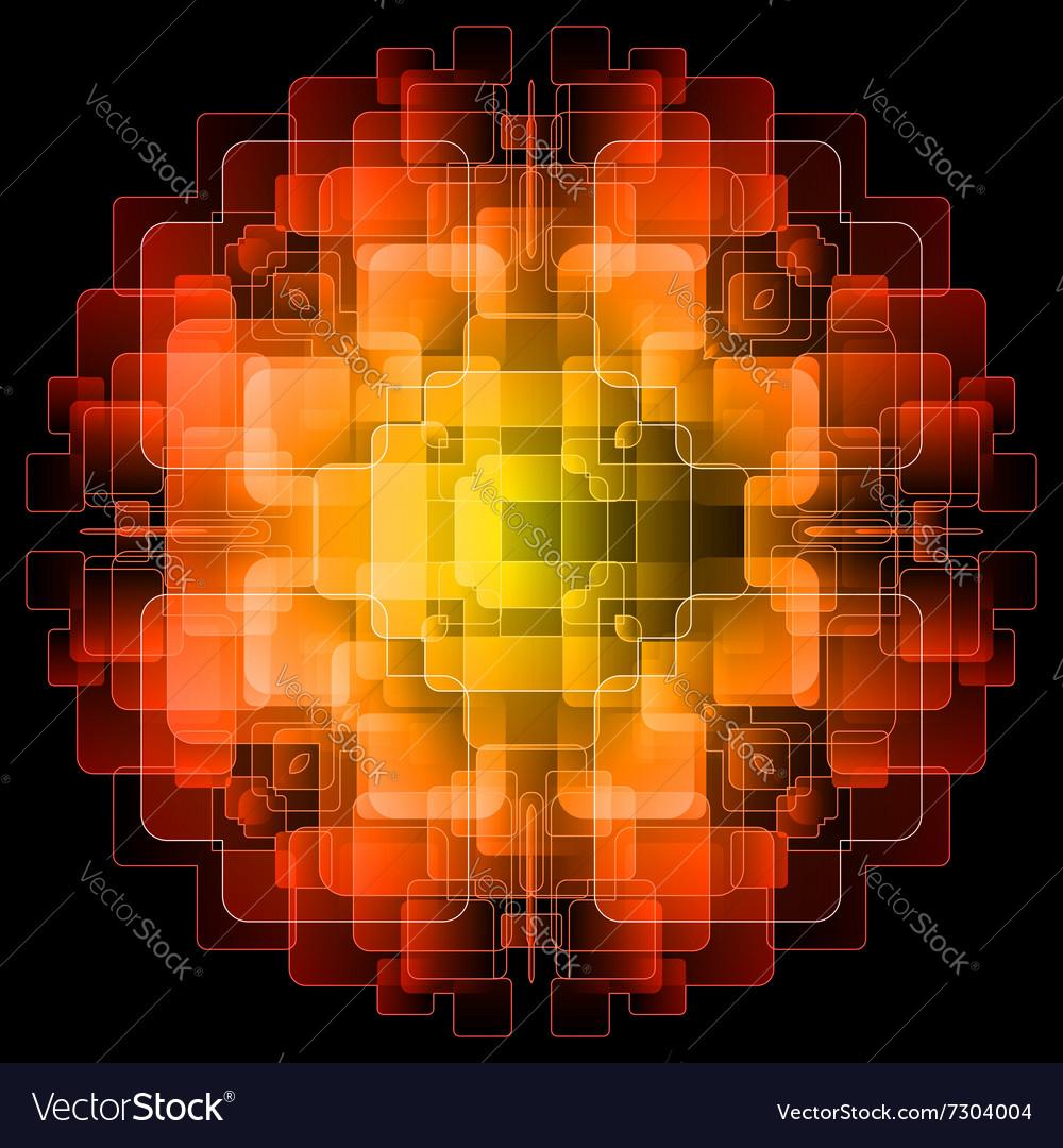 Background with orange digital screens vector image