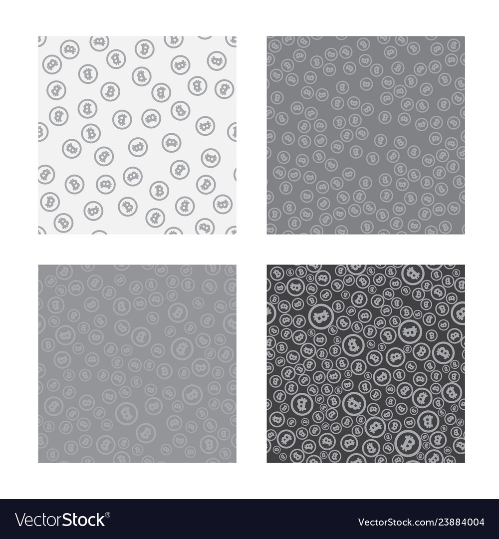 Bitcoin seamless pattern white seamless