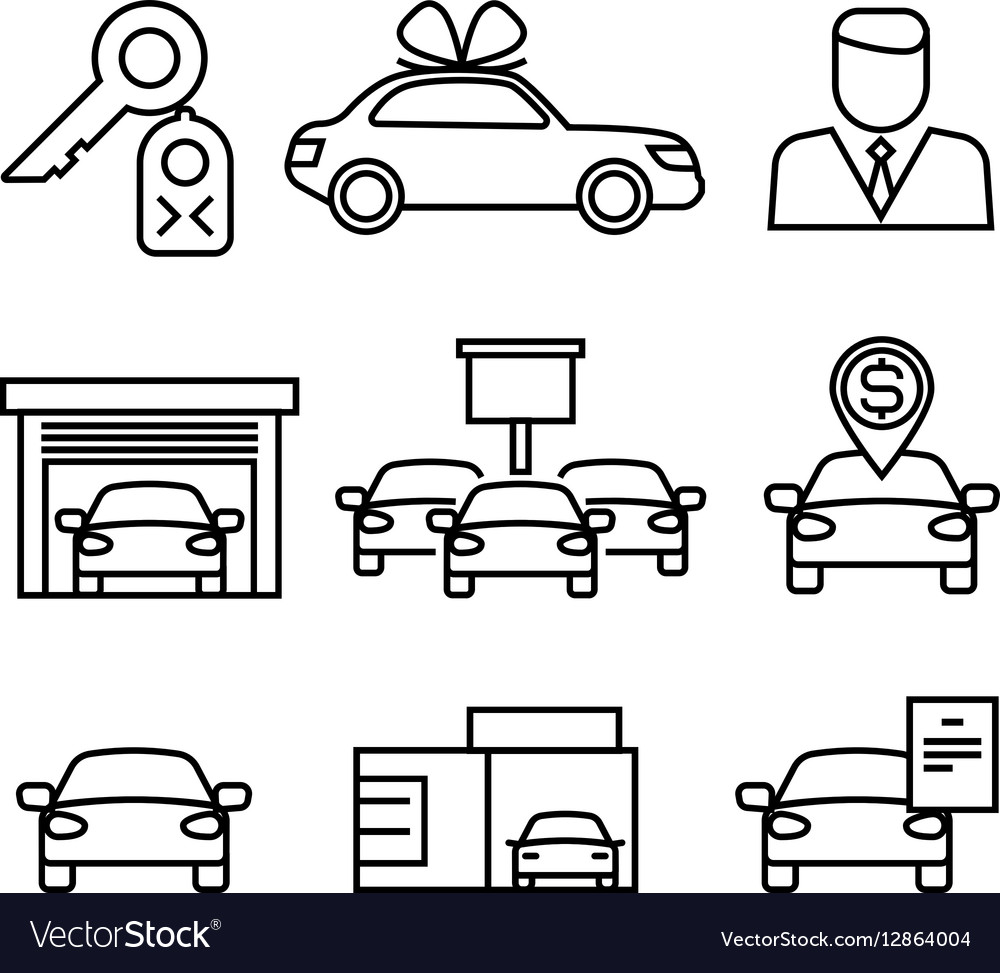 Car dealerships purchase and sale of cars line