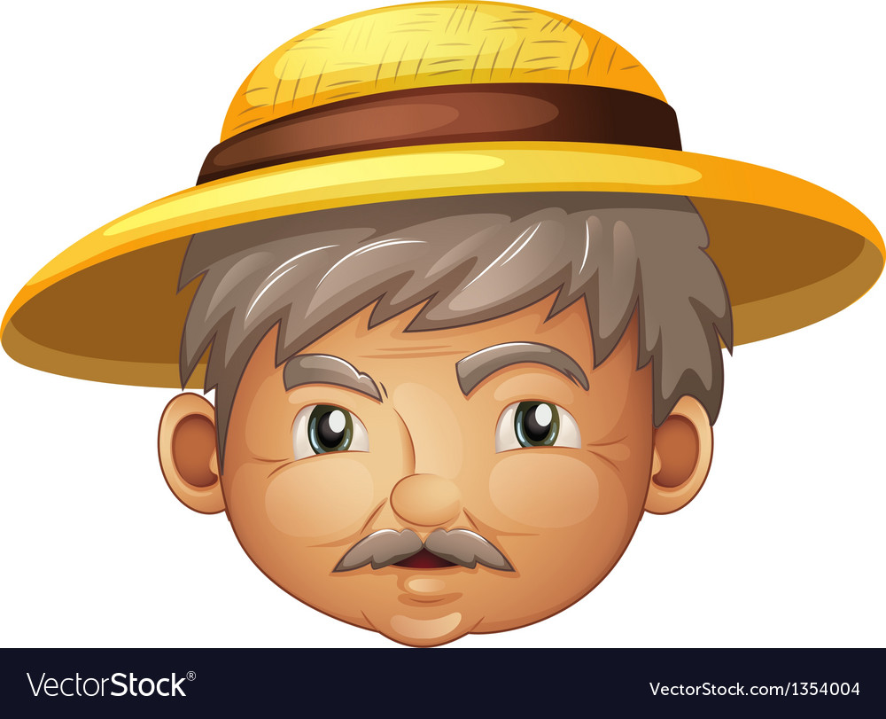 Cartoon Hat Old Man vector image