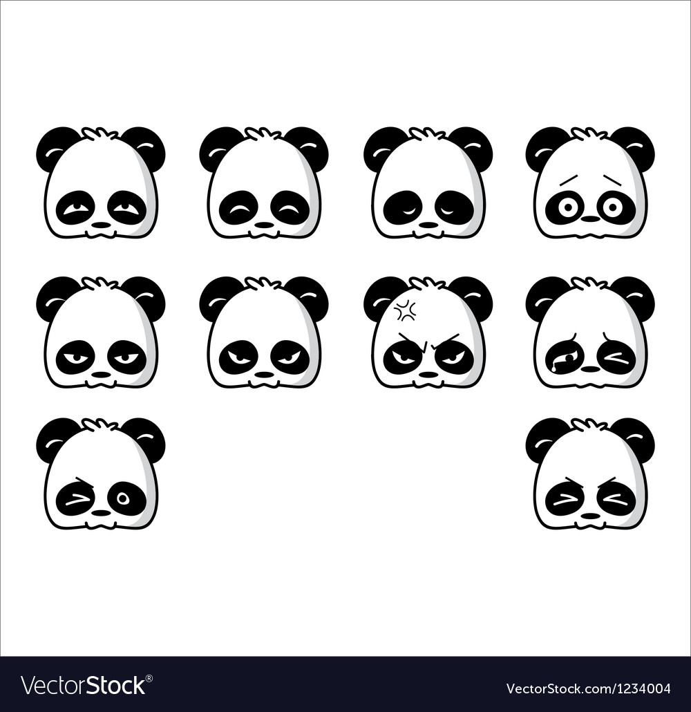 Emoticon panda regular