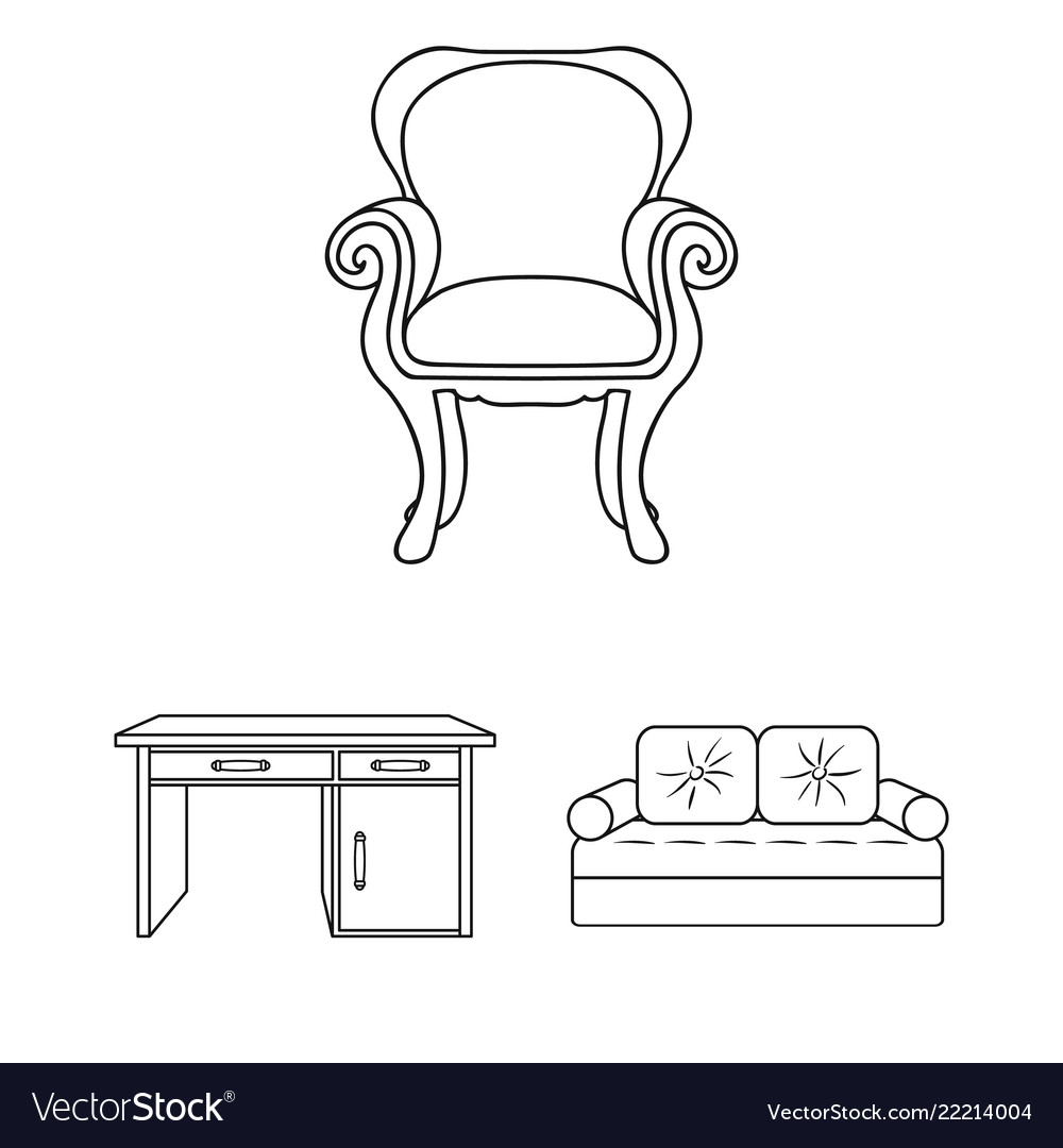 Miraculous Furniture And Interior Outline Icons In Set Cjindustries Chair Design For Home Cjindustriesco