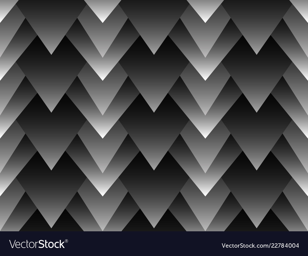 Geometric seamless pattern with layered triangles