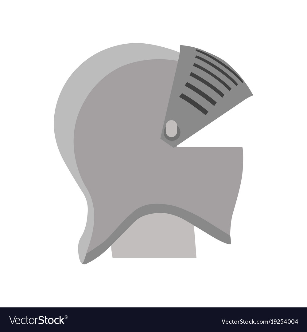 Helmet knight armor medieval isolated shield vector image