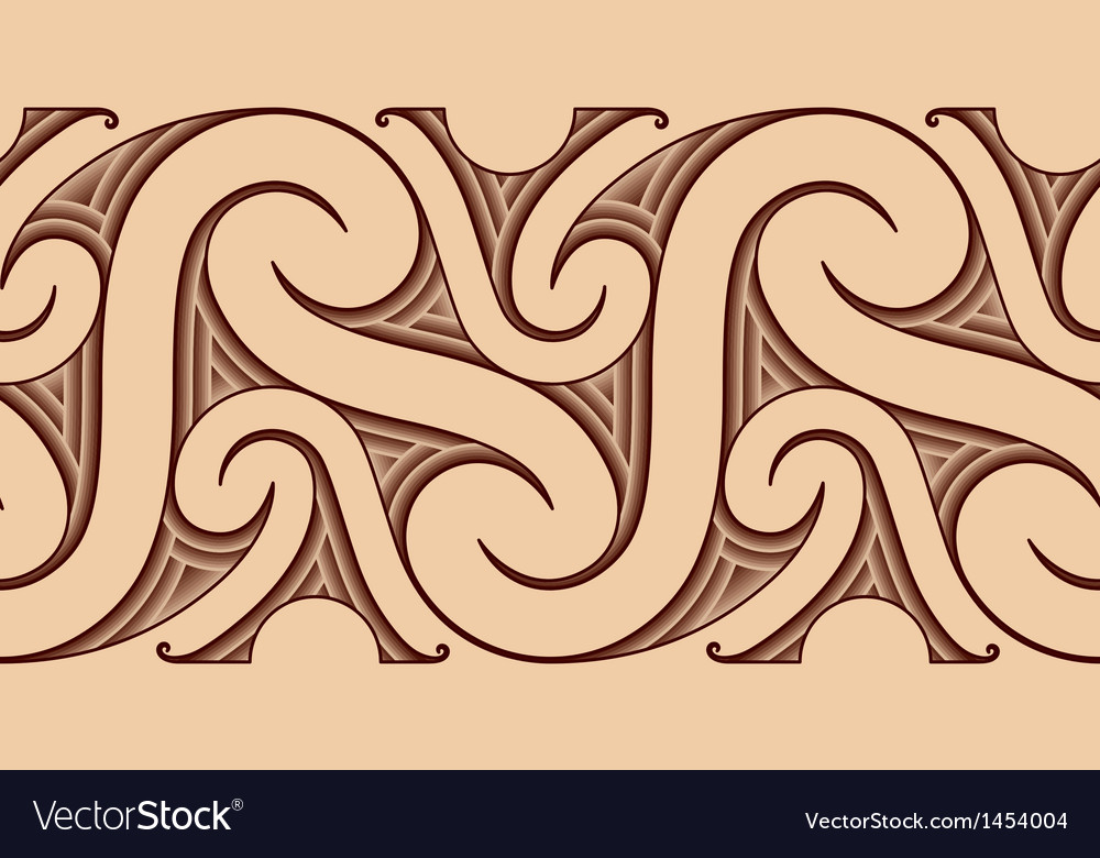 Maori Tattoo Pattern Royalty Free Vector Image Inspiration Maori Patterns
