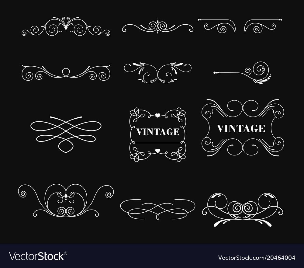 Set of white color vintage