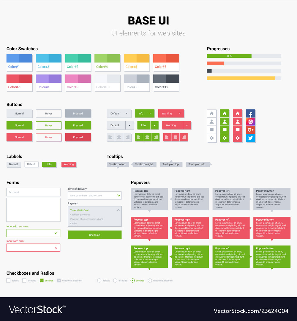 Ui kit web template elements easy change