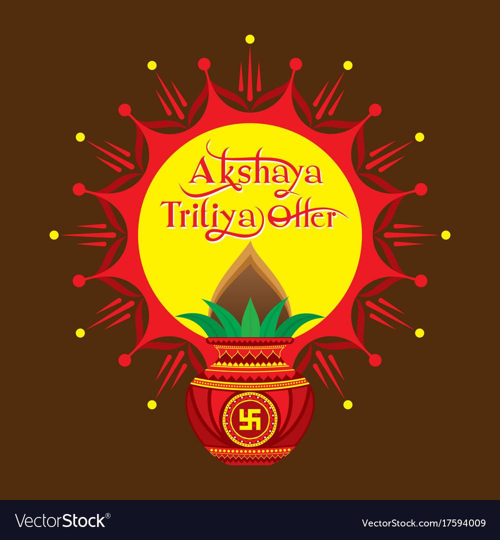 Akshaya Tritiya Offer Template Design Royalty Free Vector