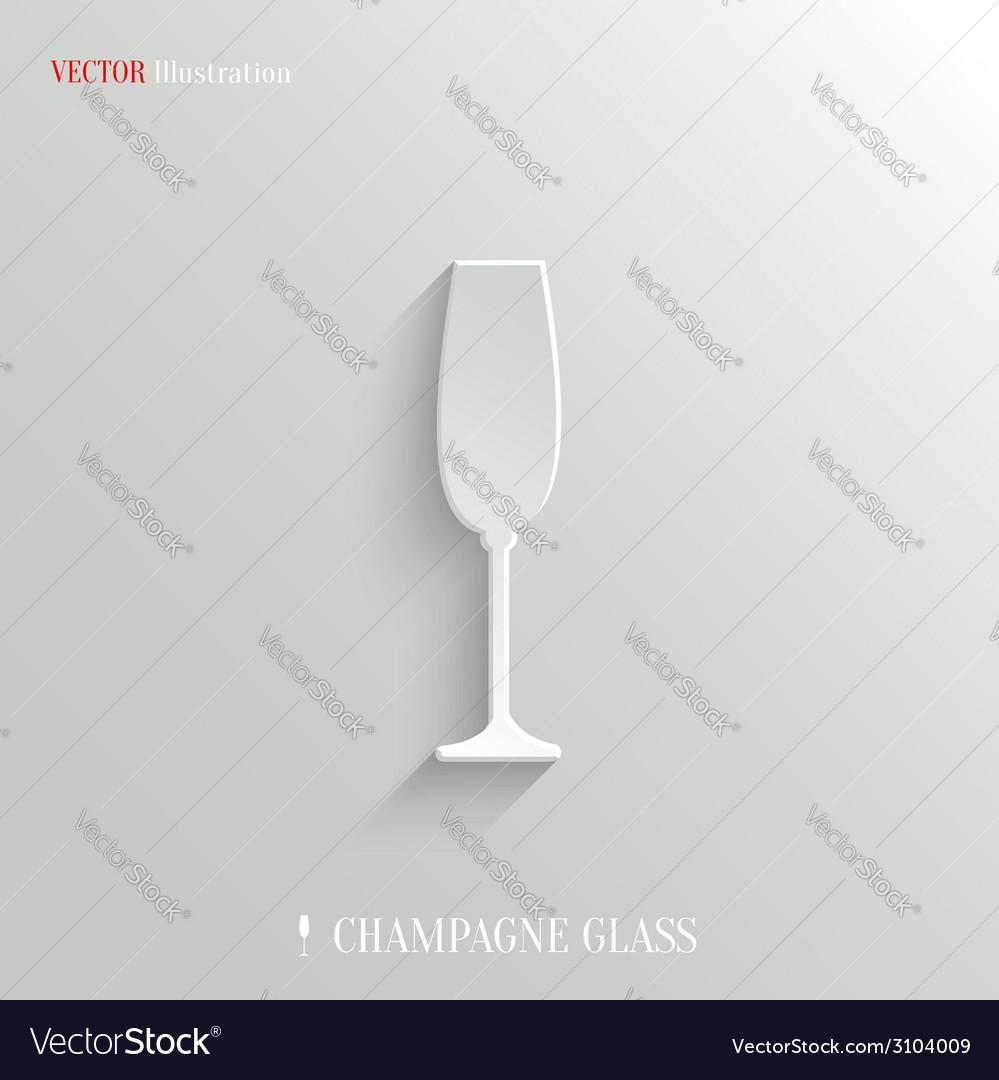 Champagne glass icon - white app button