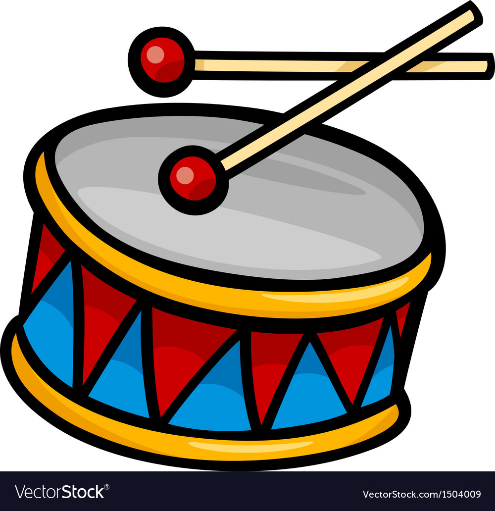 drum clip art cartoon royalty free vector image rh vectorstock com drums clip art free drums clipart png