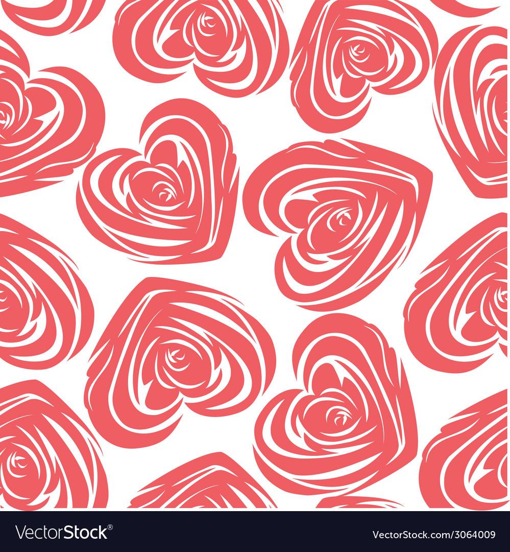 Pink art heart