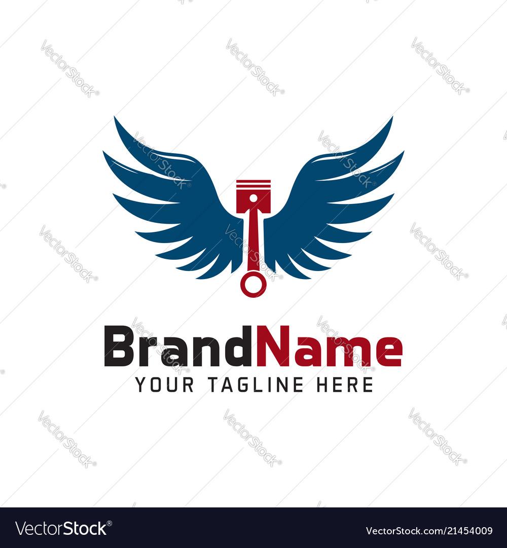 Piston wings logo
