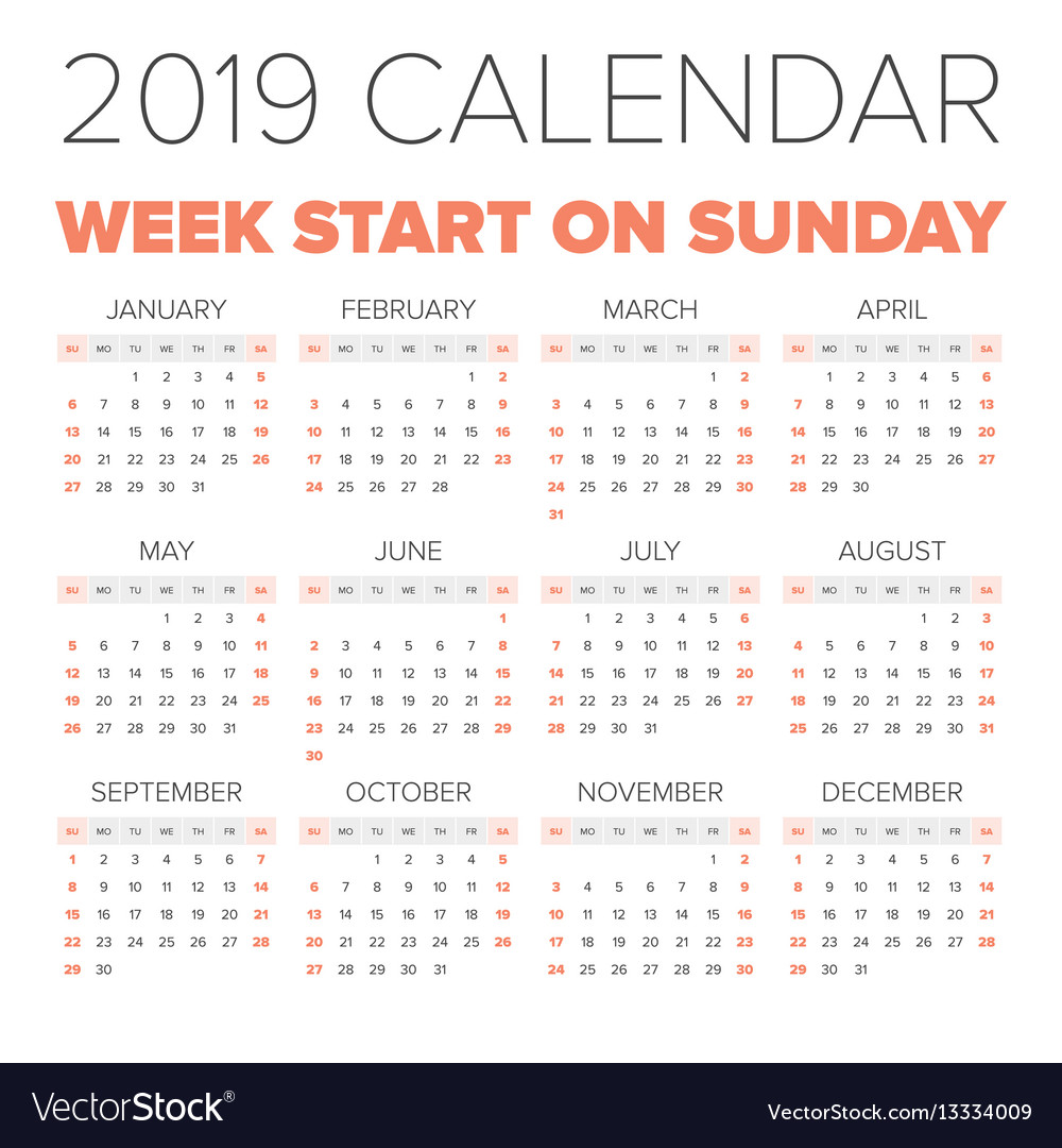 2019 Year Calendar Free Download Calendars Unlimited