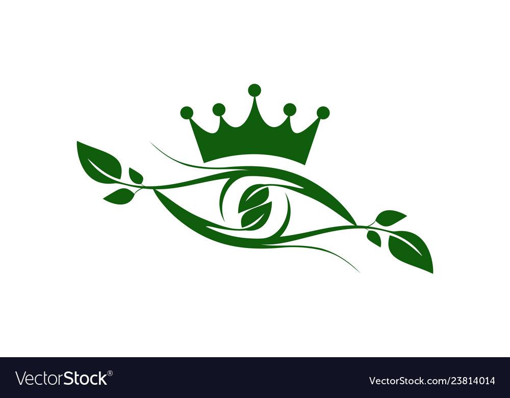 Abstract eye king nature plant vision logo icon