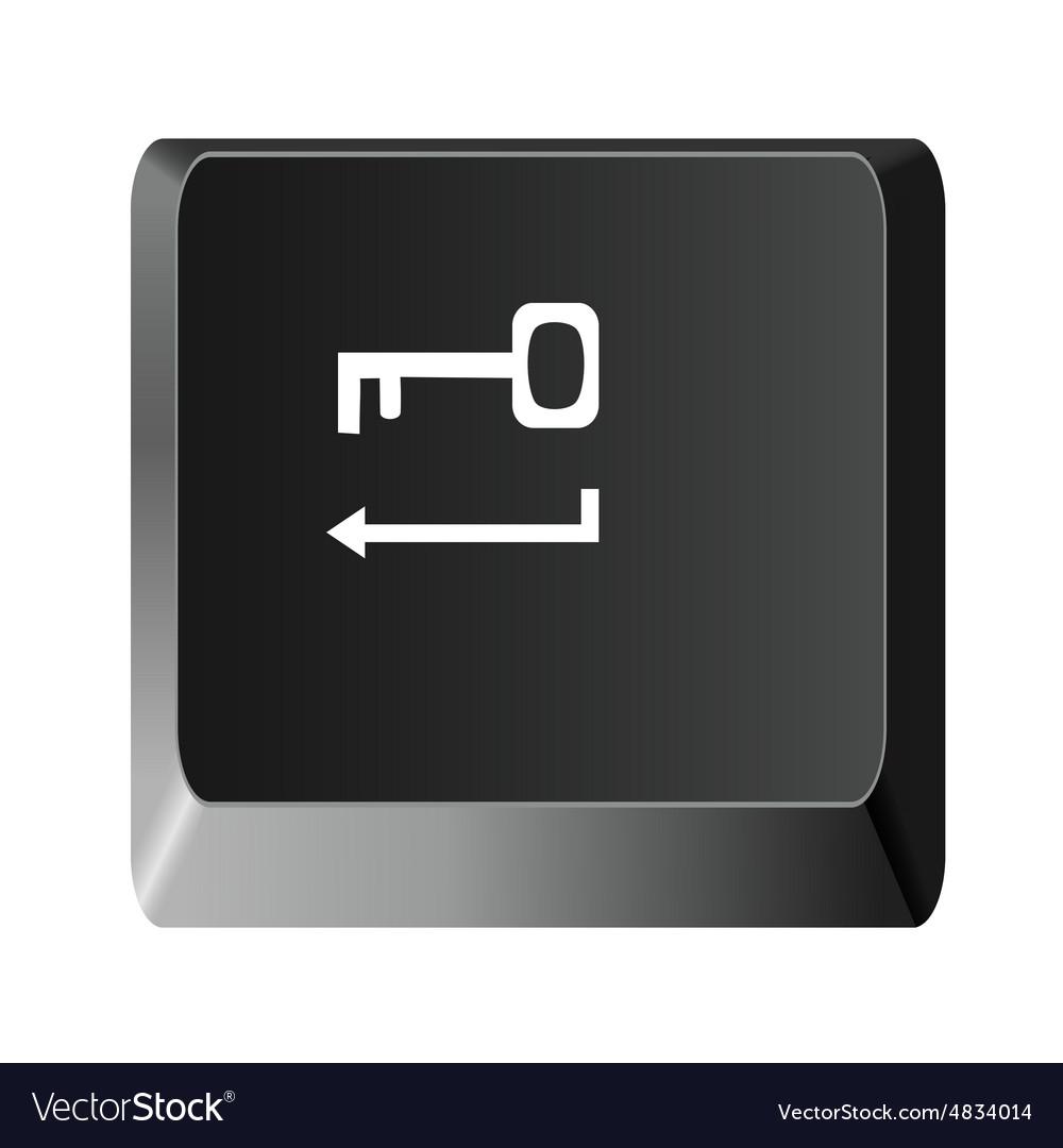 Button to enter the key