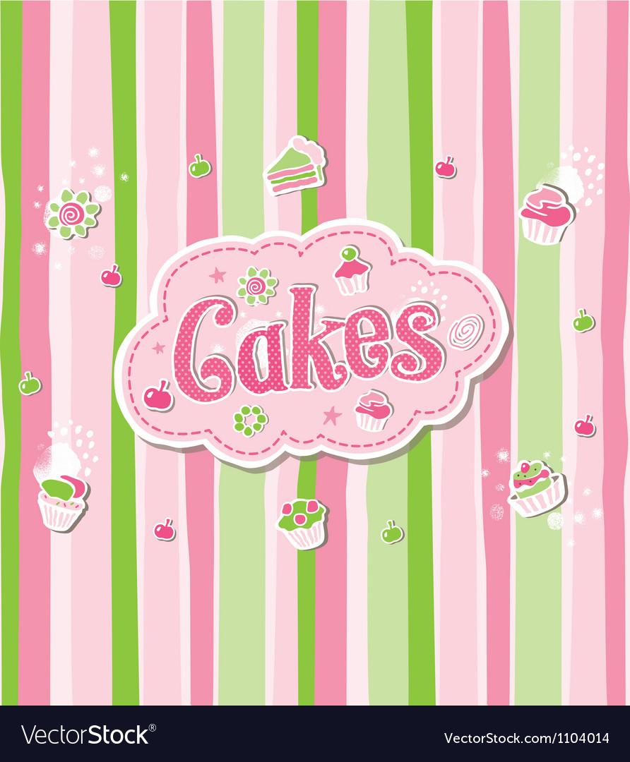 Cake Label Doodle Design