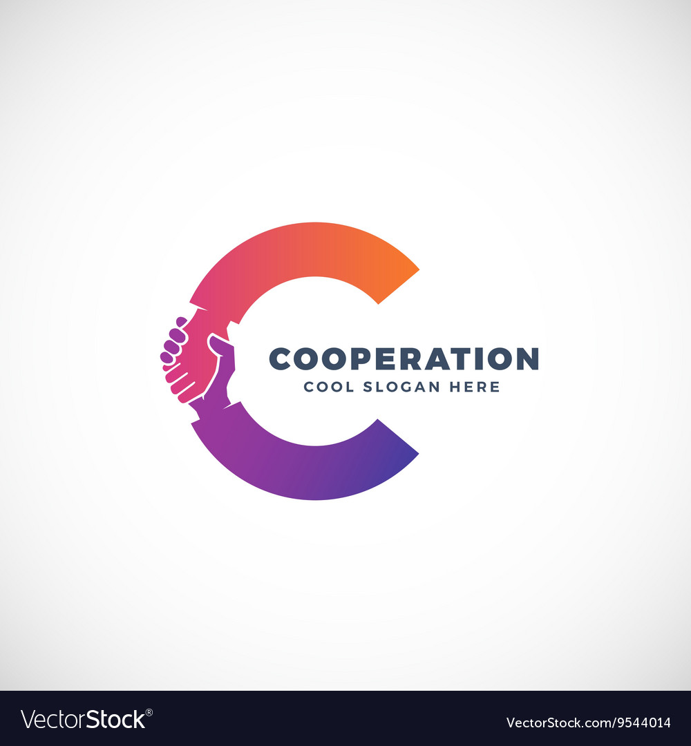 Cooperation Abstract Sign Symbol or Logo