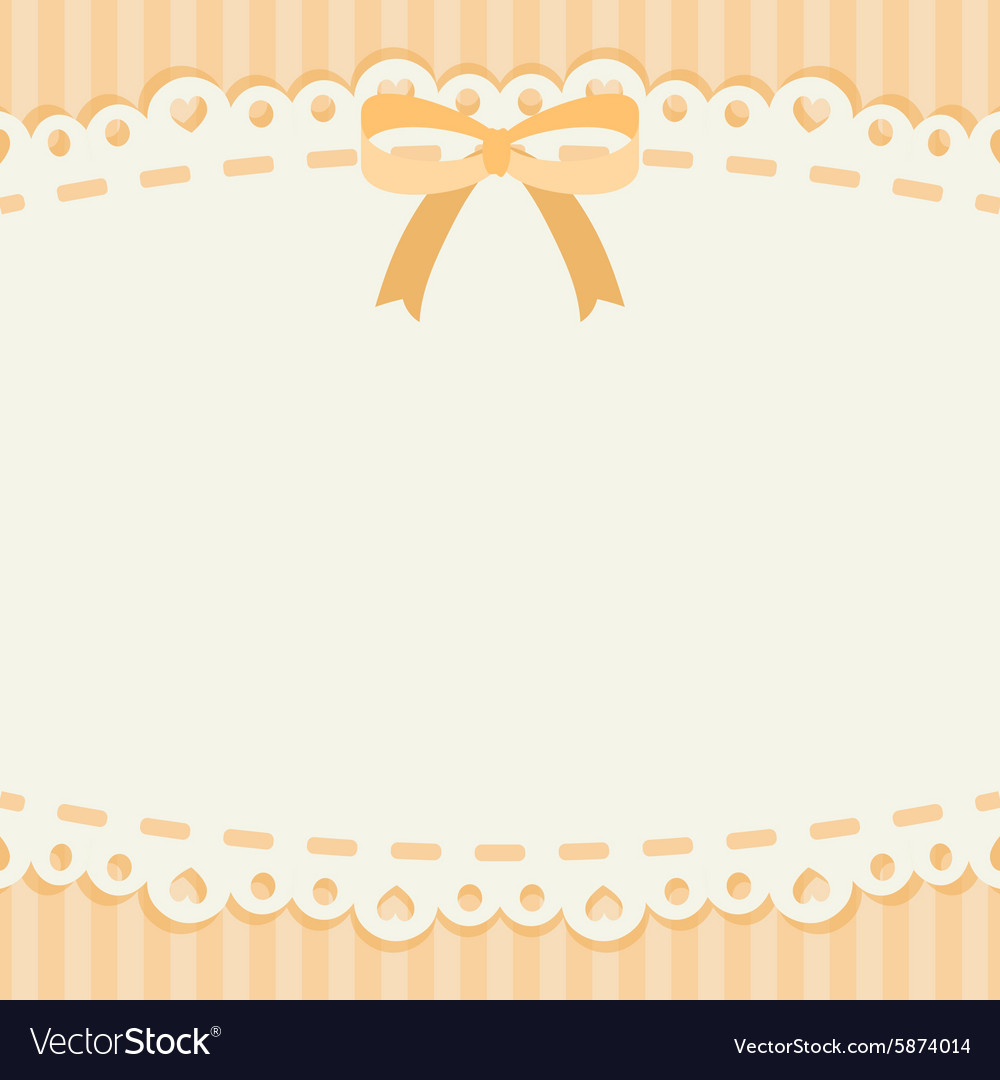 Cute pastel ribbon and lace background or banner