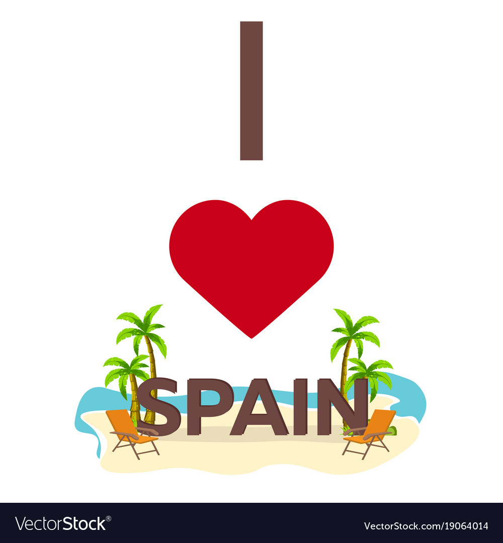 I love spain travel palm summer lounge chair