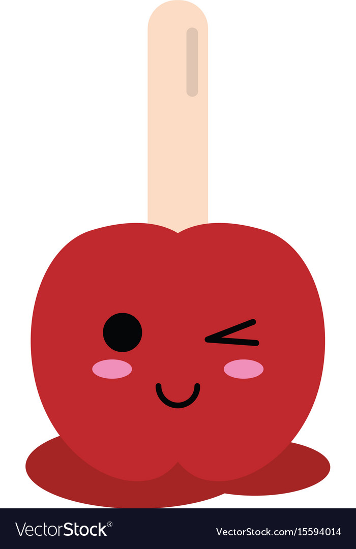 Kawaii candy apple icon image vector image
