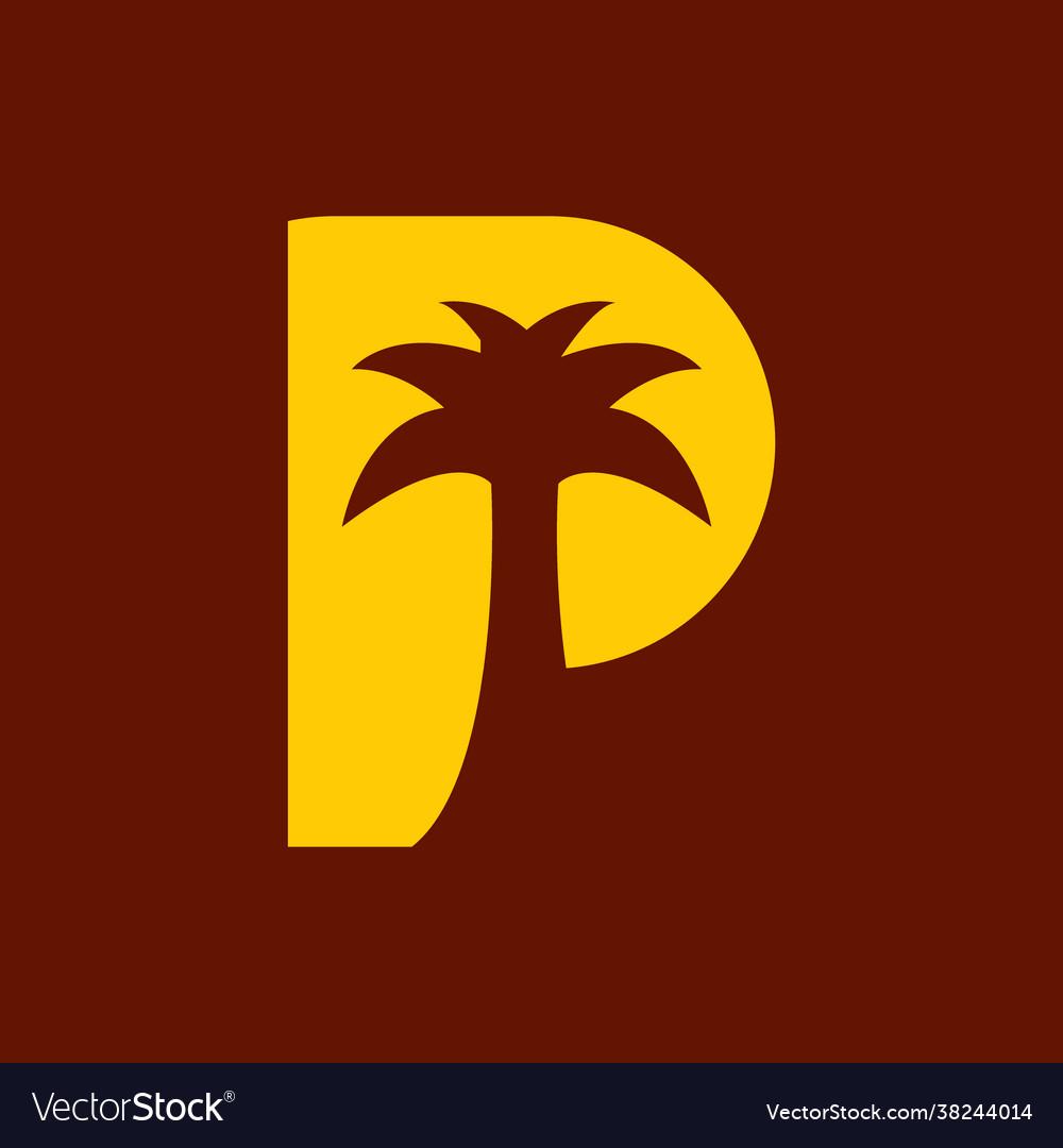 P for palm logo