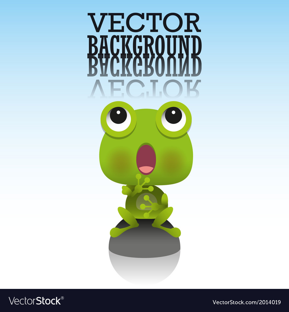 Cute little frog vector image