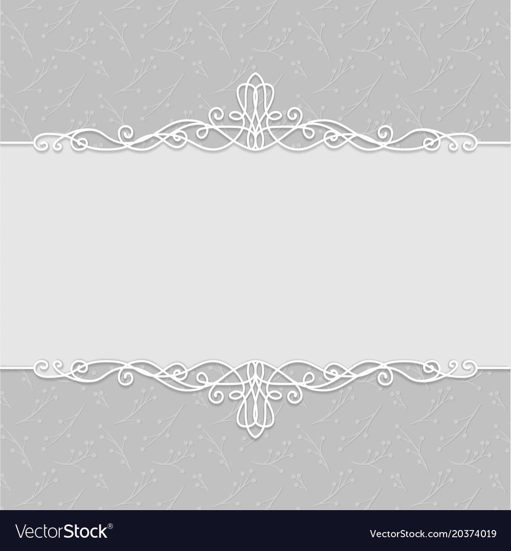 Frame of beautiful wedding invitations postcards vector image stopboris Choice Image