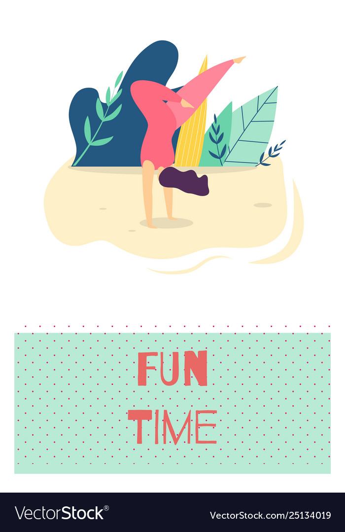 Fun time outdoors recreation motivate flat card
