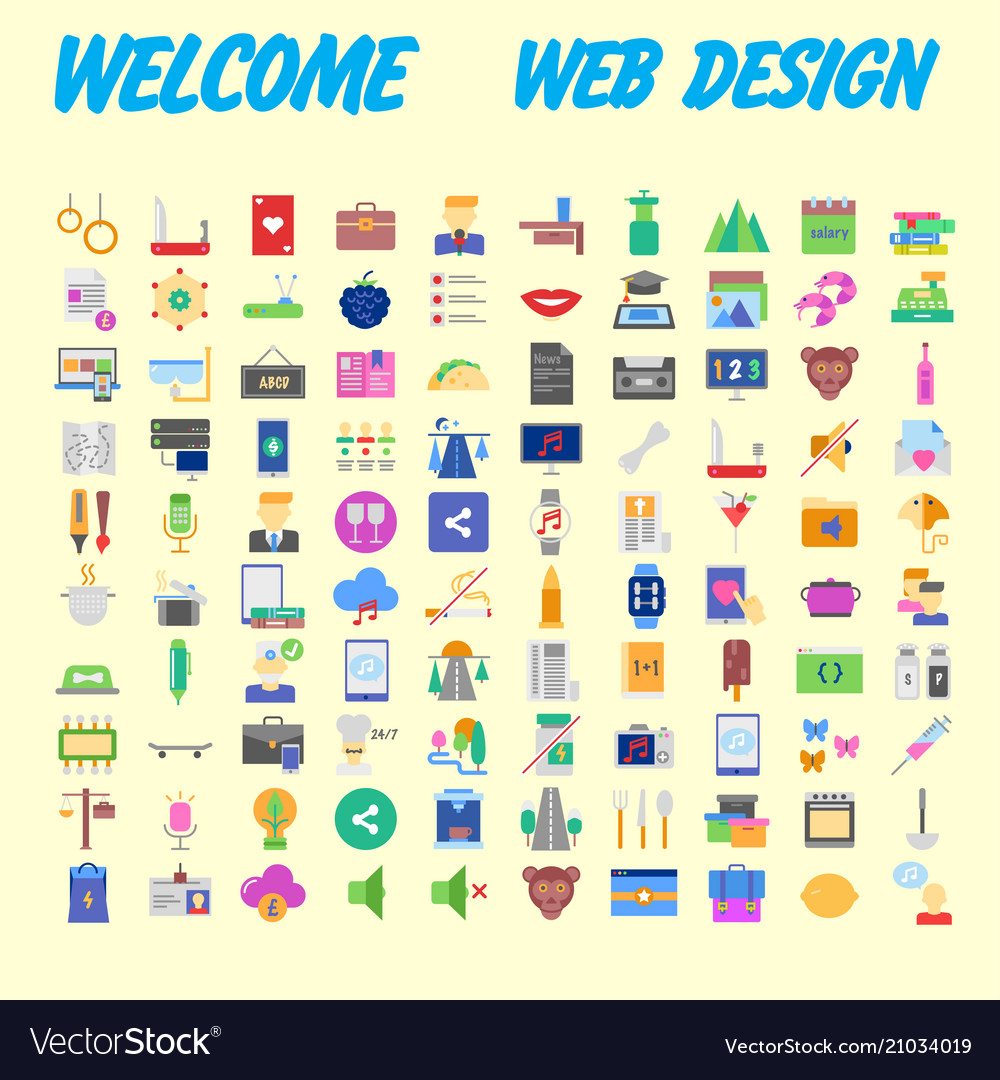 Icon pack for designers and developers icons for