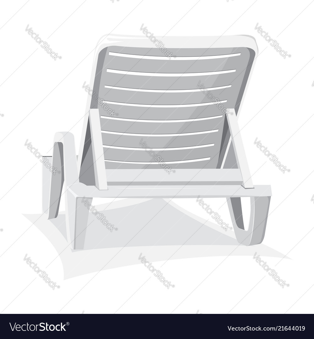 Plastic Beach Chair Vector Image