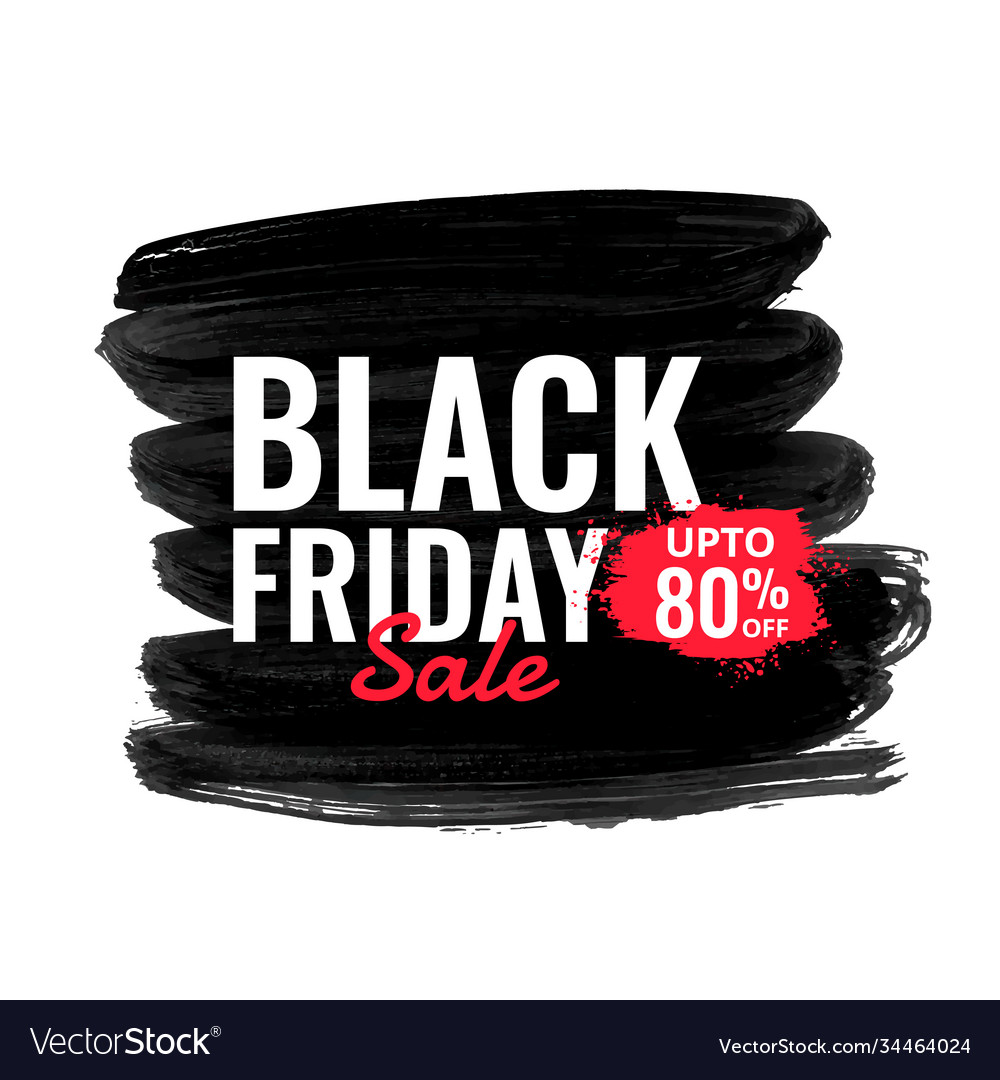 Abstract Black Friday Sale With Paint Effect Vector Image