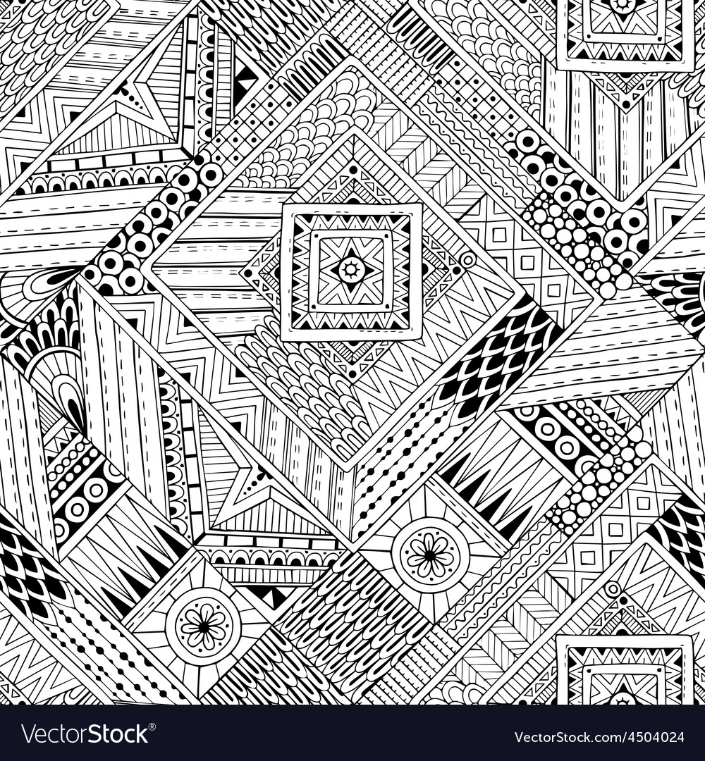 Abstract striped textured geometric tribal vector image