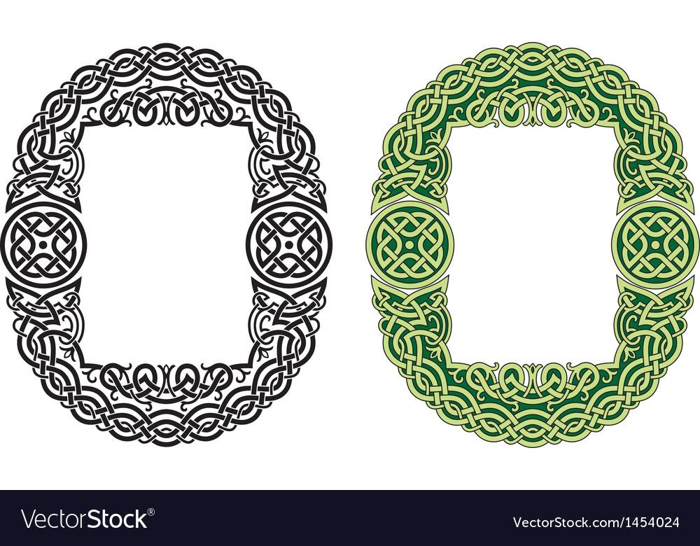 Celtic frame pattern