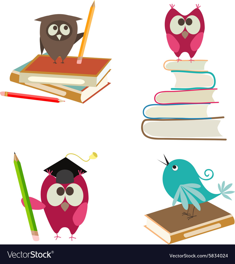 Cute bird learning