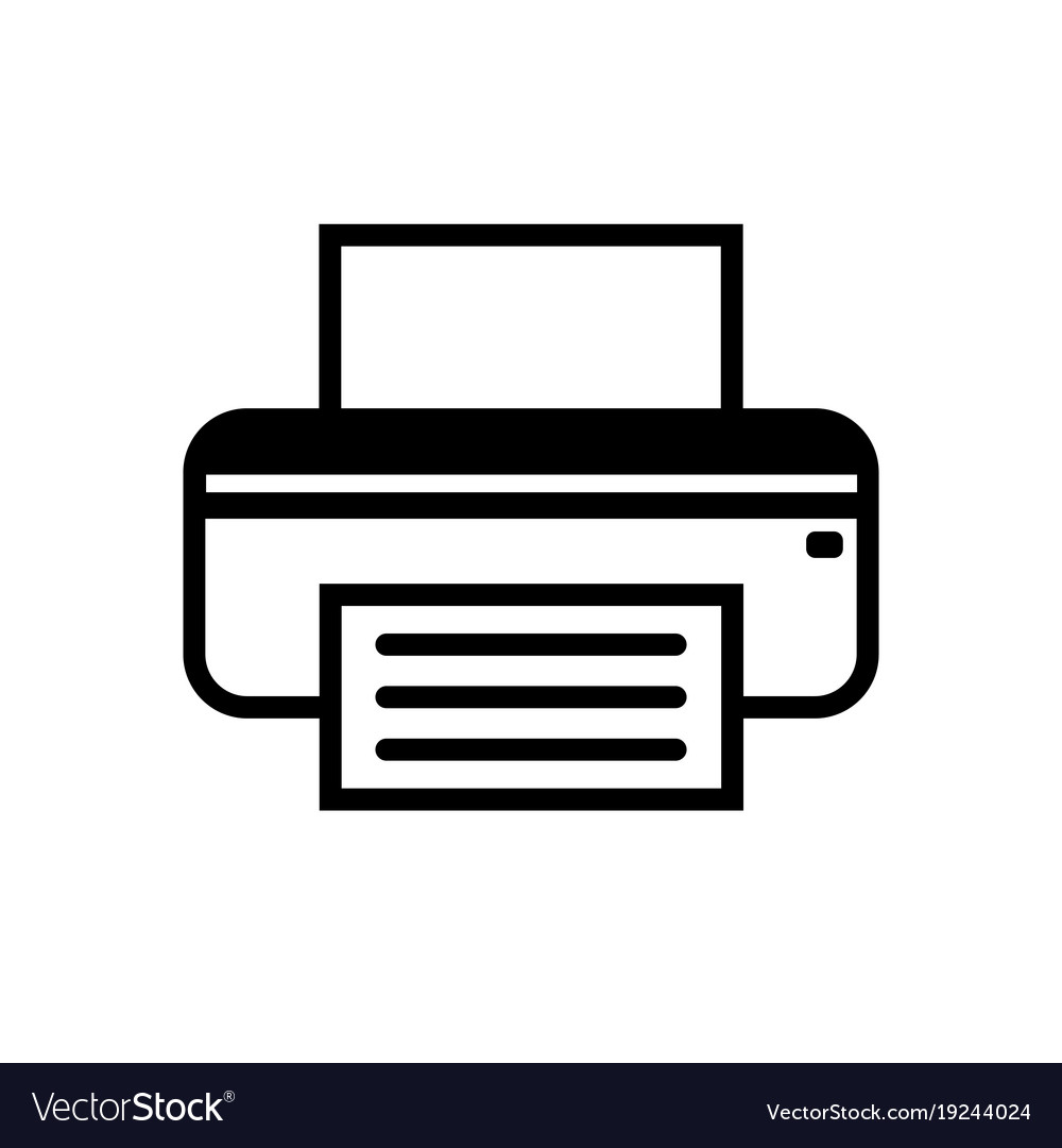 fax icon in black and white royalty free vector image vectorstock