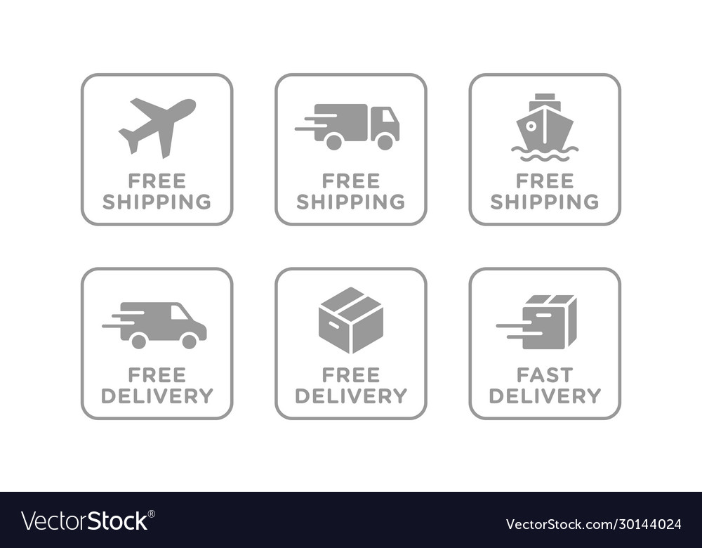 Free shipping delivery icons set