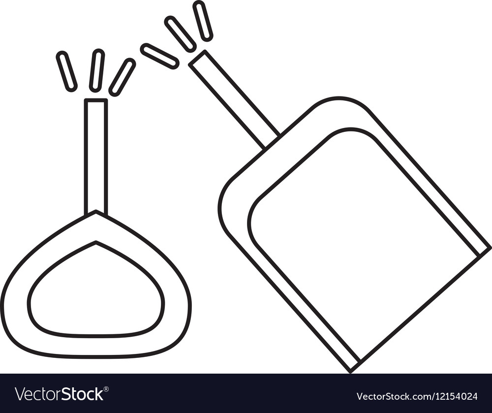 Isolated toy shovel damaged design vector image