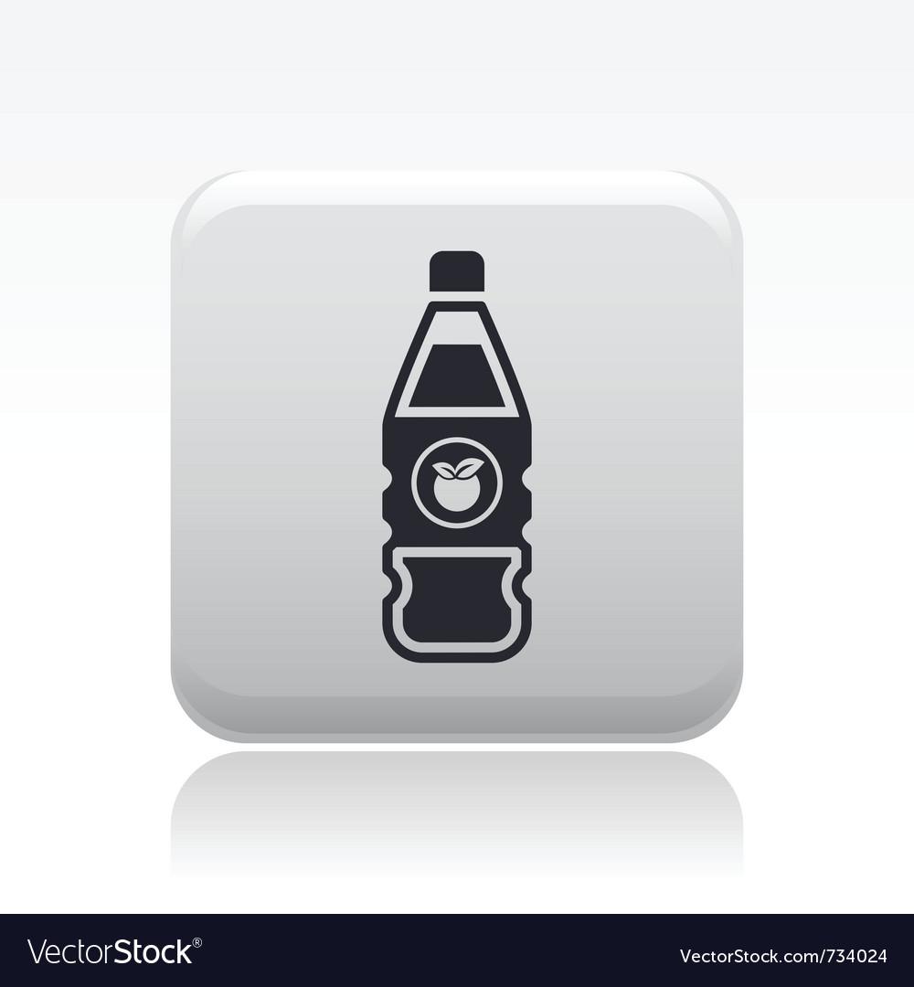 Juice bottle icon vector image