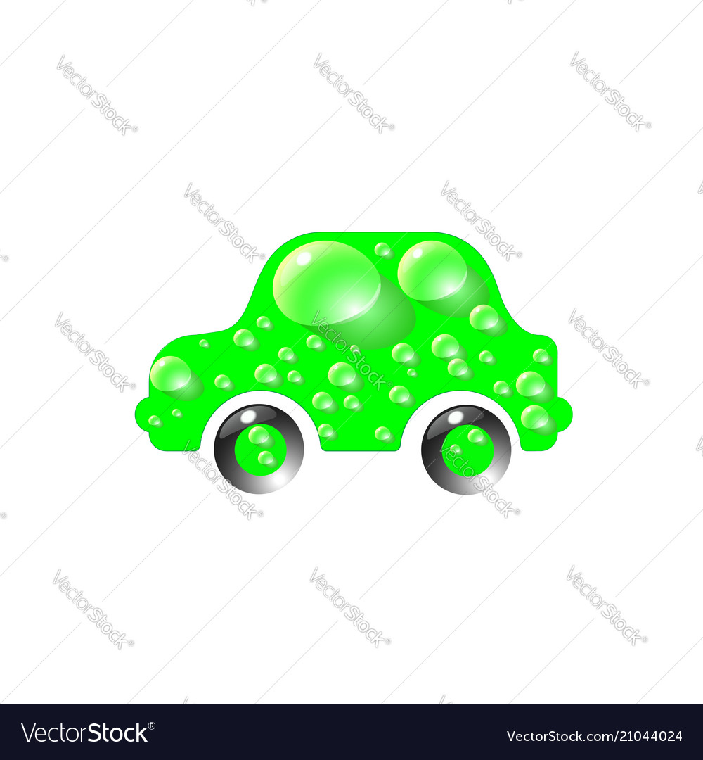 The most top-end toy car green color in drops of